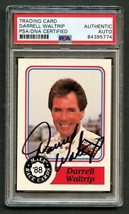 Darrell Waltrip #10 signed autograph auto 1988 MAXX NASCAR Trading Card PSA Slab