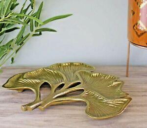 Lotus Leaf Gold Metal Decorative Plate Dish Bowl Vase Ornament Decoration