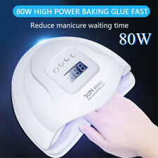 80W Nail Dryer LED UV Lamp Nail Gel Curing Lamp Nail Art Tools Manicure Machine