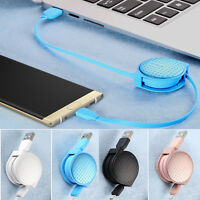 1M Retractable USB-C 3.1 Type C Data Charger Cable for Oneplus 2 3 Nexus 6P LGG5