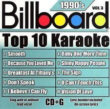 NEW - Billboard Top-10 Karaoke - 1990's Vol. 3 (10+10-song CD+G)