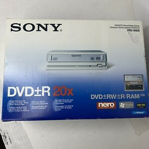 SONY DVD+R 20x DVD/CD Rewritable Drive DRU-840A ~ New Open Box