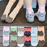 Fashion 1Pair Ankle Cute Cat Striped Cotton Socks Warm Soft Casual Hosiery