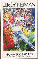 LeRoy Neiman ROGER STAUBACH Dallas Cowboys HAND SIGNED Lithograph ART Football