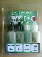 Excelle Lubricants O&G Scale 4 Pak Medium/Heavy/Gear/PTFE Grease Ship FREE in US