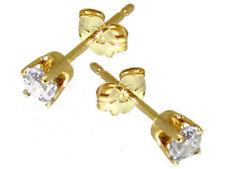 Good Cut Yellow Gold SI2 Fine Diamond Earrings