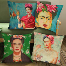Antique Self Portrait Frida Kahlo Throw Pillow Case Sofa Cushion Cover Home UK4X