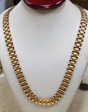 "10K SOLID Real Gold ROLEX Chain Yellow 8.1mm 34.7g 25"" (20"" 22"" 24"" 26"" 28"" 30"""