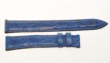 Cinturino in vero coccodrillo nuovo (misura 16mm), blue crocodile strap