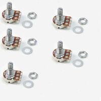 5pcs A500K Split Shaft Pots Potentiometer Electric Guitar Audio Tone Switch