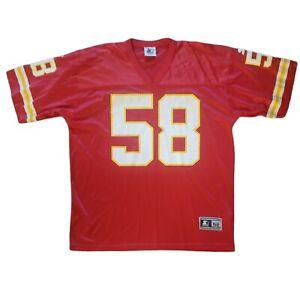 Vintage Derrick Thomas Kansas City Chiefs Starter NFL Football Jersey Mens 52