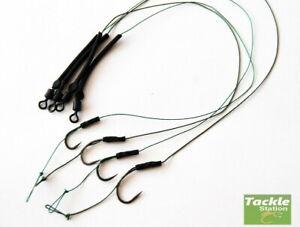 6  carp fishing hook lengths hair rigs high carbon steel 3 sizes