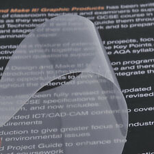 4pcs Transparent Adhesive Acoustic Guitar Pickguard PVC Tear Drop Shape