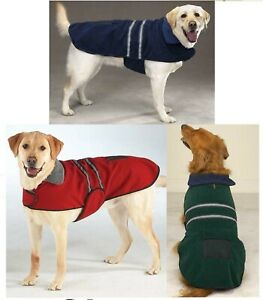 Casual Canine Reflective Jacket for Dogs Soft Brushed Velvet, Fleece Lined