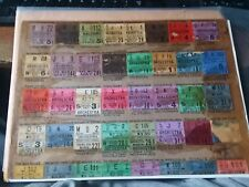 Theater, movie ticket stub lot 1920's THE JAZZ SINGER, first talking picture!