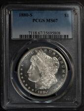 1880-S $1 MORGAN Silver Dollar - BEAUTIFUL PQ FROSTY COIN * PCGS MS67 #J825