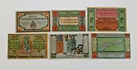 HALLIG LANGENESS-NORDMARSCH NOTGELD 20,30,50,75 PFENNIG, 1, 2 MARK 1921 (12483)