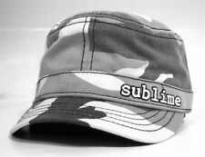SUBLIME - GREY CAMO MILITARY CADET HAT CAP - NEW ONE SIZE