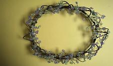 Sage Green Purple PartyLite Candle Dew Drop Ring Wreath IN BOX - FLASH SALE