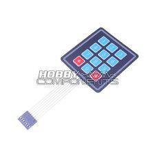 3 x 4 12 Key Matrix Membrane Keypad