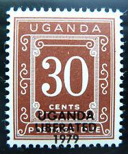 Uganda 1973 30c AFFRANCATURA dovuto senza trattini eliminate D15 OPT prezzo di vendita BN1104