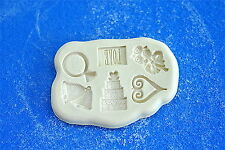 Mold Mould  for sugarcraft, Sugar Cake,Cupcake,chocolate,  Clay -  propose set