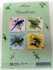 2001 BRAZIL PARROT STAMPS WWF MINIATURE SHEET PARROT BIRD BIRDS WILDLIFE