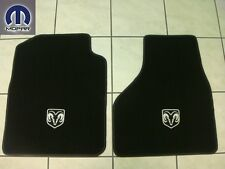 DODGE RAM 1500 2009 - 2012 FRONT CARPETED FLOOR MATS BLACK COLOR SET