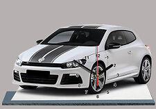 MODEL CARS, VOLKSWAGEN SCIROCCO -06, 11,8x 7,8 inches  aluminium with Clock