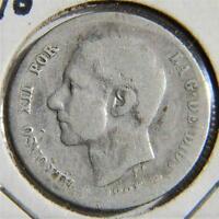SPAIN, Alfonso XII: 1885 silver Una Peseta, last yr of issue; VG