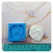 3,5x4CM Stampo in silicone Sacra Famiglia gesso resina per bomboniere originale