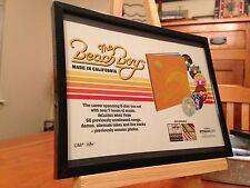 """4 Small 6X8 Framed Beach Boys """"Pet Sounds, So Tough, etc."""" Lp Album Cd Promo Ads"""