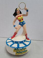 Rare Vintage 1978 DC Wonder Woman Ceramic Music Box Working BT89