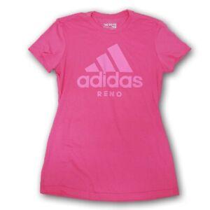 """adidas The Go-To Tee Women's Pink Tshirt """"Reno"""" With Pink Logo"""