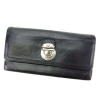Marc Jacobs Wallet Purse Black Silver Woman Authentic Used A1065