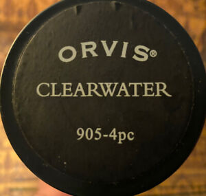 Used ORVIS CLEARWATER 905-4 9' FOOT #5 WT 4 PIECE FLY ROD Excellent Condition