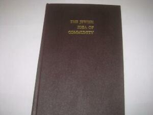 RARE The Jewish idea of community by Sol Roth  published by Yeshiva University