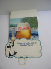 Vintage Hamm's Beer store ad 19x13 inches 1984 brand new