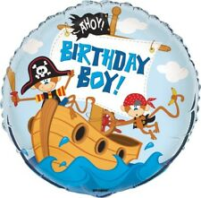 Boys Birthday Pirate Party Decorations 45cm Foil Balloons Party Supplies  54425