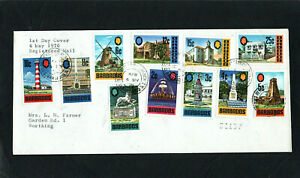 BARBADOS - 1970 - BUILDINGS - FIRST DAY COVER - WITH CDS POSTMARKS