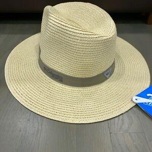 Columbia PFG Bonehead Straw Hat Fedora Fishing Hiking Unisex Size L/XL New