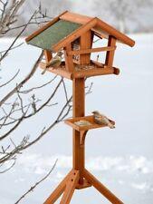 Vogelfutterhaus Vogelfuttersilo rustikal aus Holz zum Hängen mit Sitzstange 23x2