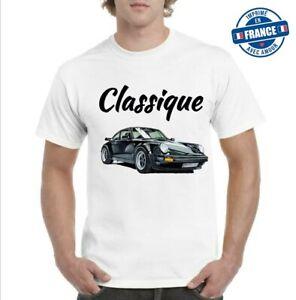 Tee-shirt Classique voiture  porsche 911 motors 2021