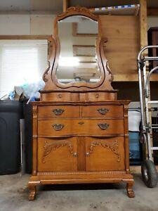 Lexington Furniture Sampler Collection Dresser Wash Stand  w Mirror Oak 391