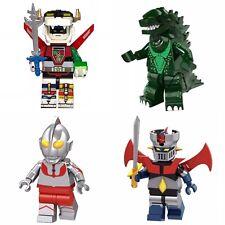 Manga Minifigures Set : Voltron, Mazinger, Godzilla, Ultraman - US Seller - NEW