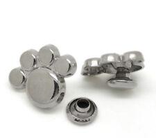 50Sets Silberfarbe Fußspur Nieten Ziernieten Schmucknieten 17x13mm 7mm