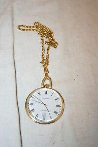 sw13# Aus Nachlass: Taschenuhr Genéve Quartz aus Gold 585 graviert