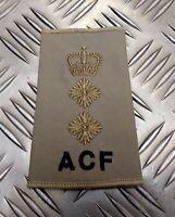 Genuine British Army Sand Desert ACF Colonel Rank Slide / Shoulder Epaulette NEW
