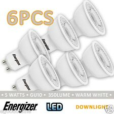 Energizer 240v Gu10 LED Light Globe 5w Warm White 6pcs