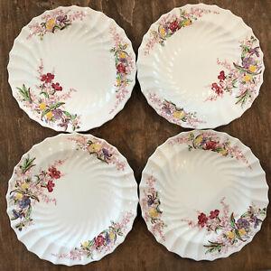 "Set of 4 Copeland Spode Fairy Dell 7 3/8"" Salad Dessert Lunch Plate"